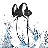 Happy Professional IPX8 High-Level Waterproof Sport Wireless Bluetooth Headset Bluetooth Earphone Super Fashion New Style Shark BH802 (Black)