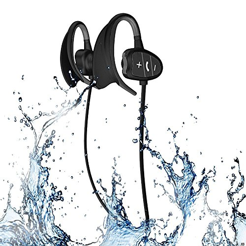 Happy Professional IPX8 High-Level Waterproof Sport Wireless Bluetooth Headset Bluetooth Earphone Super Fashion New Style Shark BH802 (Black) (Earphones Professional Wireless)