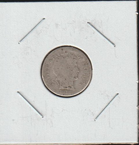 - 1916 S Barber or Liberty Head (1892-1916) Dime About Good US Mint