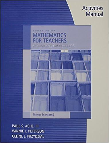Mathematics For Elementary Teachers Pdf