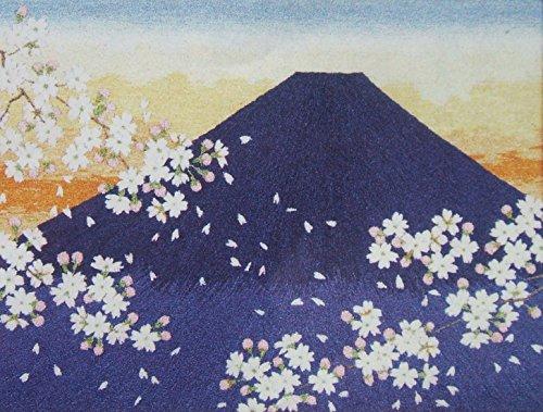 (Tokyo Bunka Shishu 31 Mt Fuji Cherry Blossom Sunrise Mountain Landscape Japanese Punch Embroidery Kit)