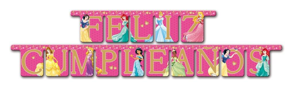 Princesas Disney - Guirnalda feliz cumpleaños (Verbetena 014200507)