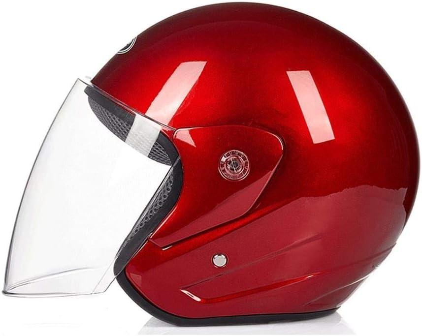 Cuatro Estaciones luz Universal y Calor para Montar en el Exterior Casco HD Espejo Anti-Kollision YQRJYB Casco el/éctrico para Motocicleta Hombres y Mujeres Color : Blue