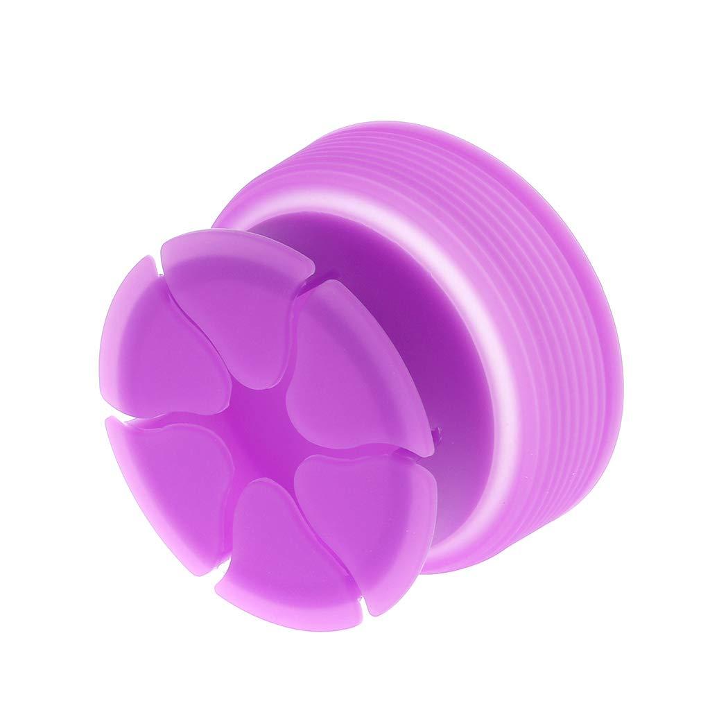 Ranuw Portable /Écouteur Etui Enveloppe En Silicone /Écouteur C/âble Organisateur Enrouleur Violet