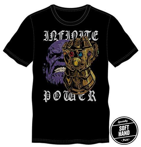 Bioworld Thanos Infinite Power Shirt  Guardians Of The Galaxy Enemy  Black Avengers Infinity War Character T Shirt X Large