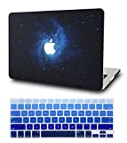 KEC Laptop Case for MacBook Air 13' w/ Keyboard Cover Plastic Hard Shell Case A1369 / A1466 Space Galaxy (Blue)
