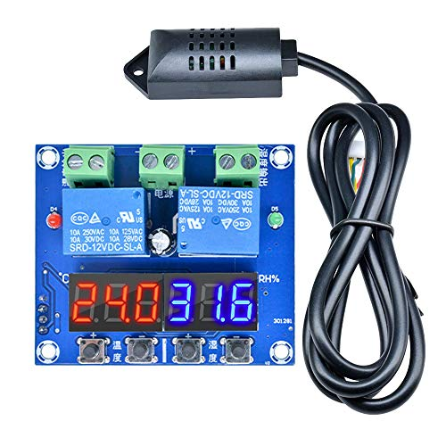 Diymore XH-M452 Thermostat Temperature Humidity Thermometer Hygrometer Controller Module DC 12V LED Digital Display Dual Outputs