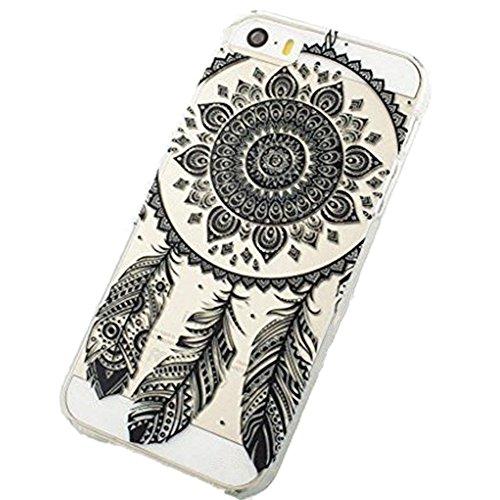 iPhone 6 Case, Plastic Case Cover for (Henna Full Mandala Floral Dream Catcher Black, iphone 6 4.7inch)