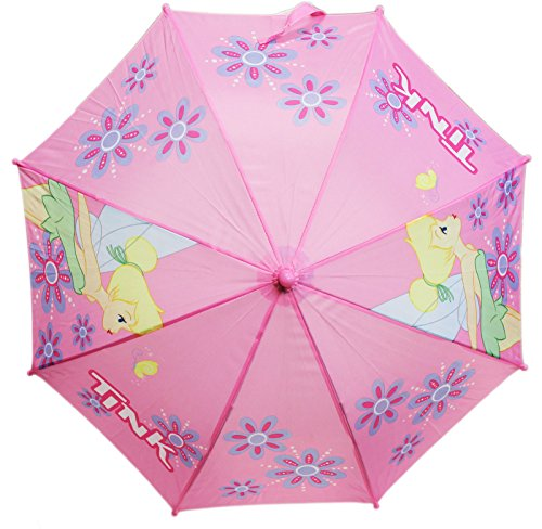 Price comparison product image Disney's Tinker Bell Floral Fabric Molded Figure Handle Kids Umbrella