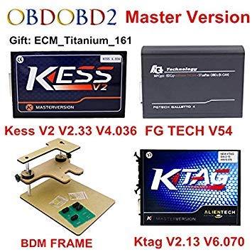 Buy SLB Works ECU Programmer KTAG V2 13+V2 33 Kess V2 V4 036 +FG