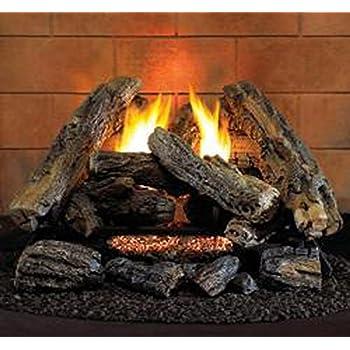 Amazon Com 24 Quot Propane Lp Gas Manual Fireplace Log Insert