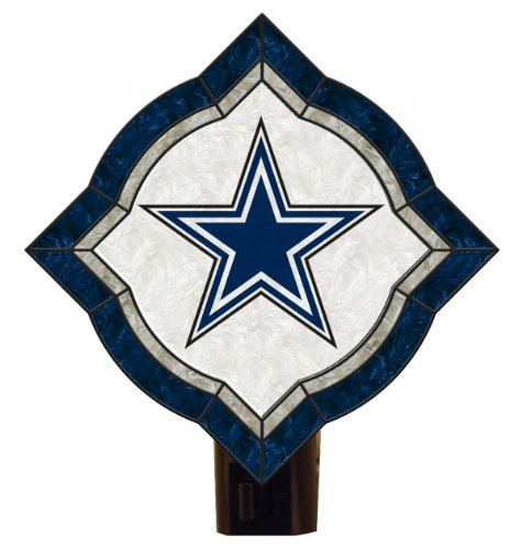 NFL Dallas Cowboys Vintage Art Glass Nightlight