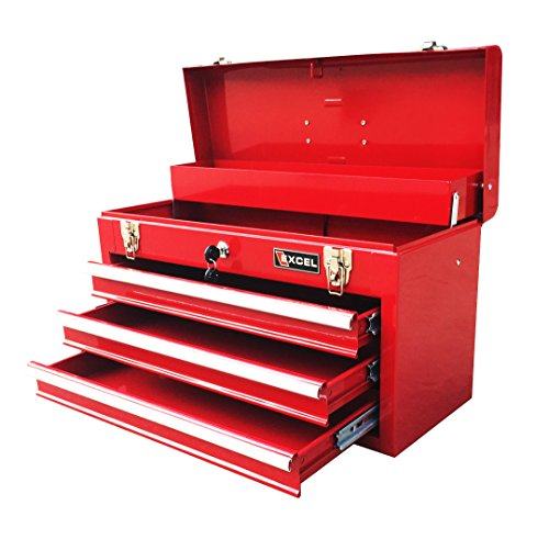 Excel TB133-Red 20-Inch Portable Steel Tool Box, Red (Toolbox Drawer Pull compare prices)