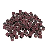 Homyl 100Pcs Sanding Bands Drums Sleeves 120 150 180 240 400 Grits Kits Set Tools - As Pictures Shown, 400#