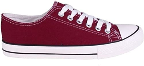 Canvas Trainers Low Top Baseball Pumps
