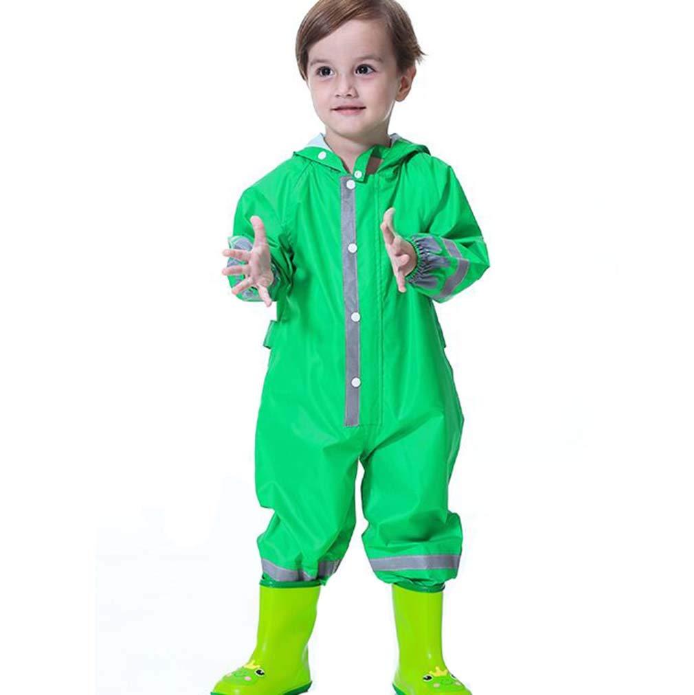 mama stadt Kinder Regenanzug Jungen M/ädchen Wasserdicht Regen-Overall Regenmantel Softshelljacke Regenjacke Outdoorjacke f/ür Schule,Fussball,Wandern 80-130CM