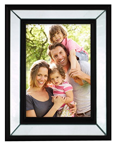 MCS, Mirrored Wall or Tabletop Picture Frame, 5x7-Inch, (Tiger Wall Mirror)