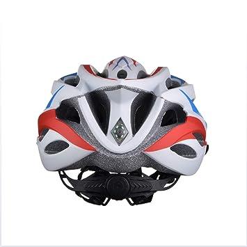MJW Casco De Bicicleta con Luz De Seguridad, CE Certificado Ajustable Deporte Ciclismo Casco Bicicleta