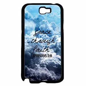 Grace Through Faith Plastic Phone Case Back Cover Samsung Galaxy Note II 2 N7100
