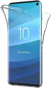 AICEK Funda Samsung Galaxy S10, Transparente Silicona 360°Full ...
