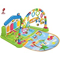 COOLBABY Large Play & Learn Infant Gym Toys Piano Activity - Baby Kick and Gym Play Mat Lay & Play 3 in 1 Fitness Music…