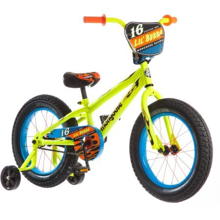 Mongoose 16' Lil Bubba Boys' Fat Tire Bike R0638WM, Neon Yellow