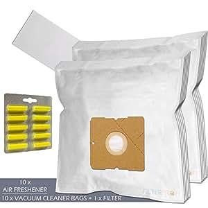 SET - Ambientadores + Filtro + 10 Bolsas de aspiradora Para Melissa 640.063 / 640-063
