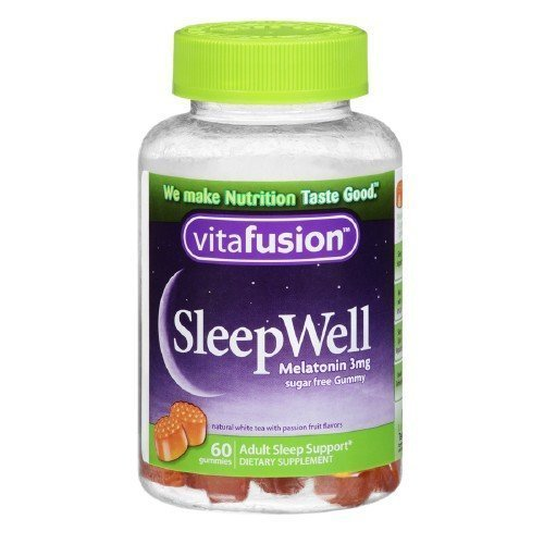 Vitafusion SleepWell Gummy Sleep Aid for Adults, White Tea & Passion Fruit 60 ea by - Count 60 Gummy