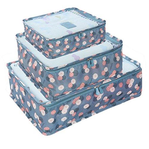 77e55e4e04e3 HiDay 7 Set Travel Cube System - 3 Packing Cubes + 3 Pouches + 1 ...