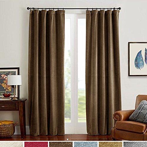 jinchan Room Darkening Velvet Curtain Panels Window Drapes f