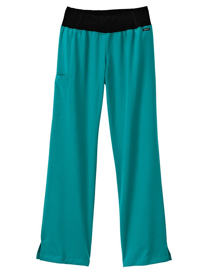 Modern Fit Collection By Jockey Women's Yoga Scrub Pant Medium Teal