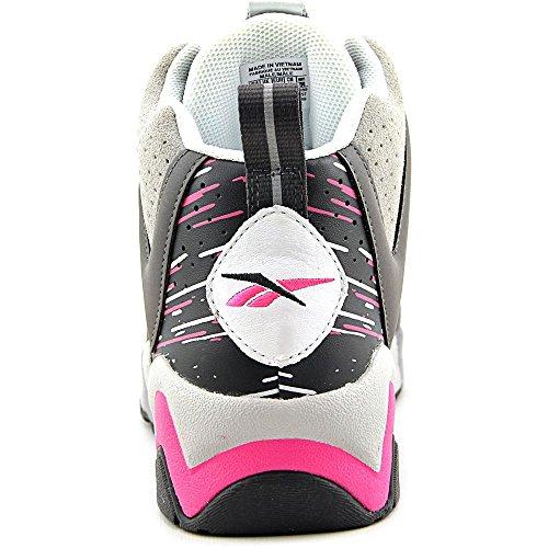 Reebok Kamikaze II Mid Herren Basketballschuhe Weiß / Grau-Pink