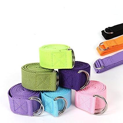 Amazon.com : DENZONE Yoga Pilates Stretching Band Belt ...