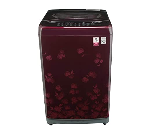 LG 7 kg Inverter Fully-Automatic Top Loading Washing Machine (T8077NEDLX,  Dark Red)