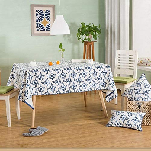 YHEGV 100% Polyester Tablecloth, Dinner, Decorated Summer and Picnic Table Linen, European Series, Interior Coffee Table, Desk, Table Tablecloth,A,140 210cm