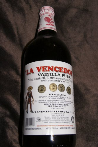 La Vencedora Pure Mexican Vanilla Extract 31oz - 1L For 1 Glass Bottle Product From Mexico (Mexican Vanilla Extract compare prices)