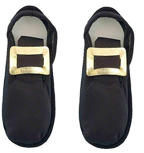 Forum Men's Pilgrim Costume Shoe Cover, Black, One Size
