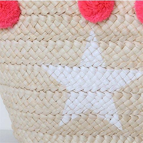 Las La Manualbages De Femenino De De La Pon Playa Hombro Bolso Lujo Compras La De De Tote Mujeres Ss3006 De De del DiseñAdor Bolsos Bag Weave Paja De Blue Verano Moda SeñOra Blue 8n8Xrq