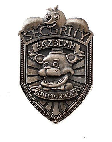Five Nights at Freddy's Fazbear Security Badge Pin