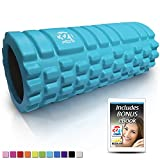 321 STRONG 758576546933ALIFFBA Foam Roller, Medium Density Deep Tissue Massager for Muscle Massage and Myofascial Trigger Point Release, with 4K eBook, Aqua