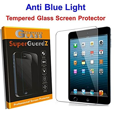 """[2-Pack] For iPad Air 2 / iPad Air 1 / iPad Pro 9.7"""" - SuperGuardZ Tempered Glass Anti Blue Light [Eye Protect] Screen Protector [Lifetime Replacement], 9H, Anti-Chip Edge, Shatterproof"""