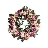TianBao Door Wreath Brightens Front Door Decor for Wedding/Birthday/Living room Decoration Purple 1 Pcs