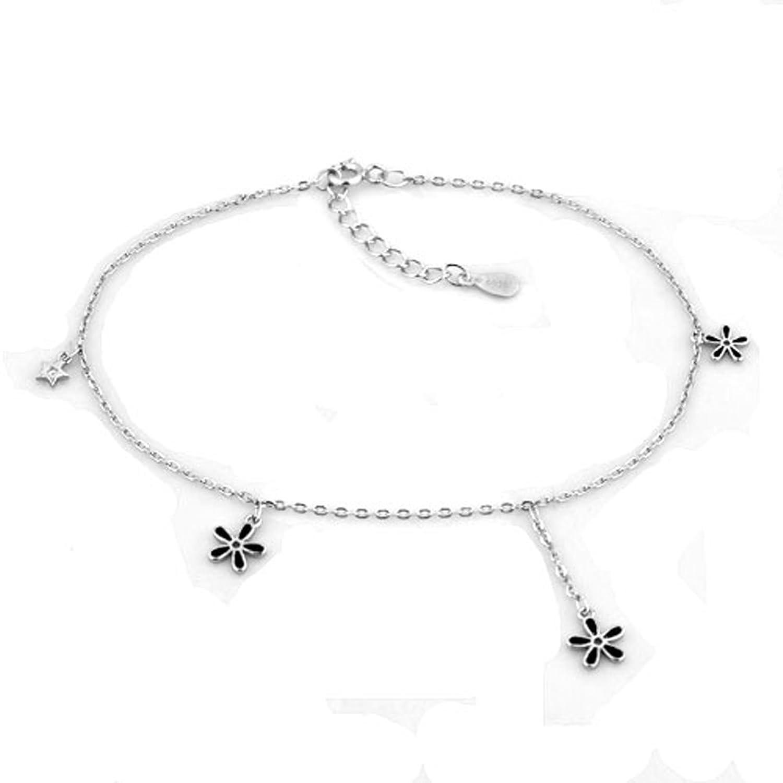 Casa De Novia Jewelry Flowers Beach Bracelet Ankle Wedding Anklet For Bride Bridesmaids Adjustable