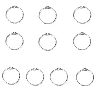 Perfect for Book Binding 38mm Book Binding Rings Hinged Steel Homemade Projects DIY Pack of 20 by Party Decor
