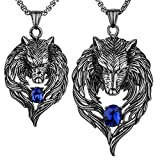 Angel Jewelry Men's Women's Couple Necklaces Stainless Steel Wolf 20' 24' Chain