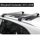 Fit for Mitsubishi Outlander 2013-2018 Lockable Baggage Luggage Racks Roof Racks Rail Cross Bar Crossbar - Silver