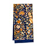 Couleur Nature Jardine Tea Towel, 20 by 30-Inch, Navy