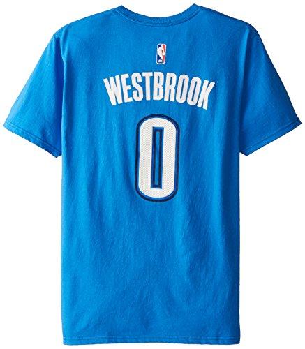 NBA Oklahoma City Thunder Bulls Men's #0 Russell Westbrook U Series Road N&N Tee, Medium, Bright Royal