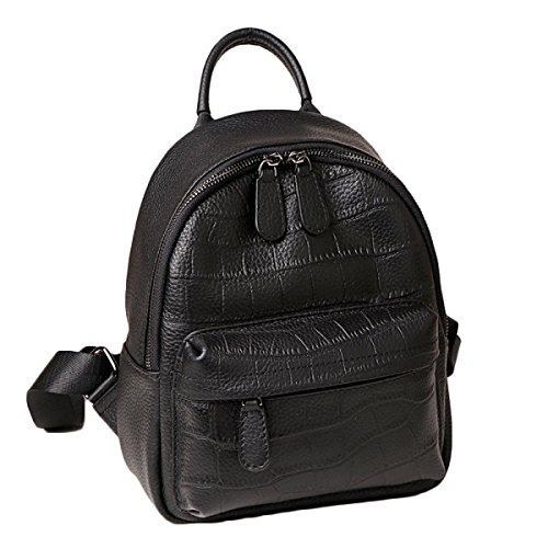 Women's Leather Backpack Backpack 2018 New Model Quality Leather Crocodile European Fashion For Leisure Wild Crocodilepattern