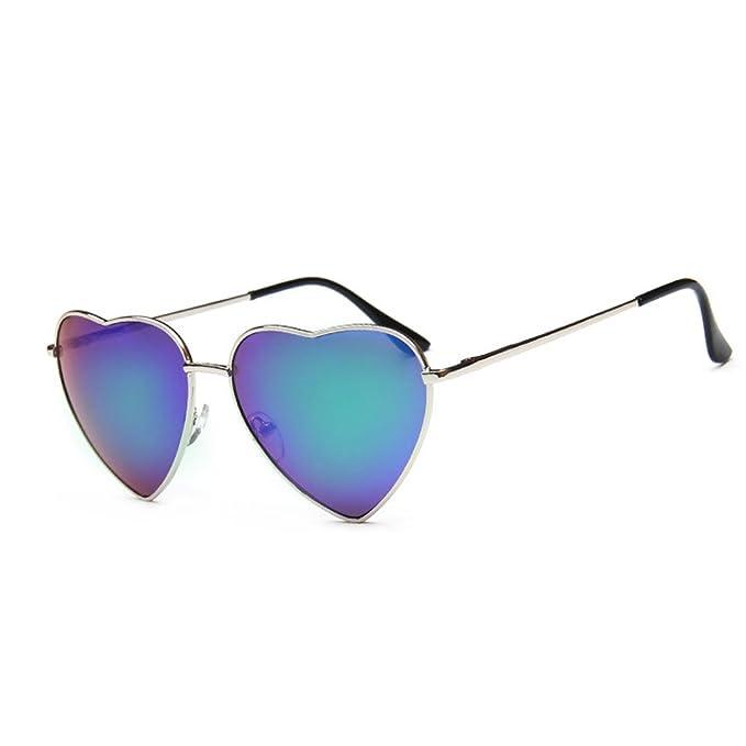 Meliya Mode Lunettes de soleil Mental Cadre en forme de cœur Lunettes de soleil polarisées UV400Preotection Eyewear avec étui, coloré